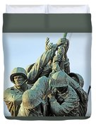 The Front Up Close -- The Iwo Jima Monument Duvet Cover