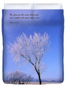 The Frost Like Ashes Duvet Cover