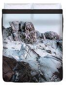 The Frozen Peak Of Bearnagh Duvet Cover