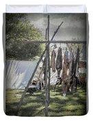 The Fur Trader's Camp 1812 Duvet Cover