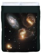The Galaxies Of Stephans Quintet Duvet Cover