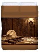 The Gambler Hat Duvet Cover