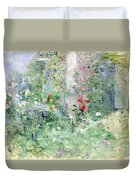 The Garden At Bougival Duvet Cover by Berthe Morisot