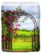 The Garden At The Winery Duvet Cover