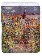 The Garden At Vetheuil Duvet Cover by Claude Monet