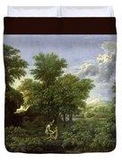 The Garden Of Eden Duvet Cover by Nicolas Poussin