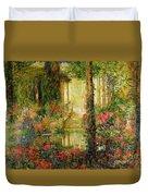 The Garden Of Enchantment Duvet Cover by Thomas Edwin Mostyn