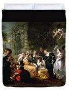 The Garden Of Love Duvet Cover by Peter Paul Rubens