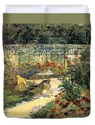 The Garden Of Manet Duvet Cover