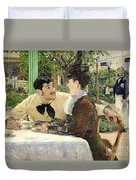 The Garden Of Pere Lathuille Duvet Cover by Edouard Manet