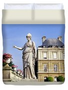 The Gardens Of Luxembourg Palace, Paris Duvet Cover