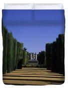 The Gardens Of The Alcazar Of Catholic Duvet Cover