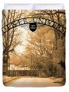 The Gate At Widener University Duvet Cover