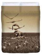 The Gathering - Sandhill Cranes Duvet Cover