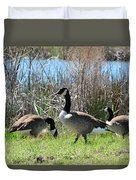 The Geese Are Back Duvet Cover