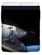The Gemini 7 Spacecraft In Earth Orbit Duvet Cover