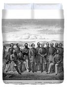 The Generals Of The Confederate Army Duvet Cover