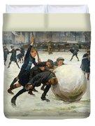 The Giant Snowball Duvet Cover