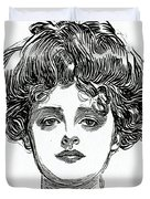 The Gibson Girl Duvet Cover