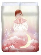 The Girl In Meditation Duvet Cover