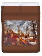 The Girl On The Path Duvet Cover