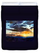 The Glory Of The Sunset Duvet Cover
