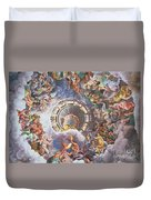The Gods Of Olympus Duvet Cover by Giulio Romano