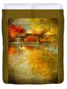 The Golden Dreams Of Autumn Duvet Cover