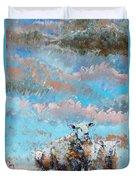 The Golden Flock - Colorful Sheep Art Duvet Cover