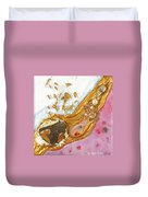 The Golden Flow Of Love And Determination Duvet Cover