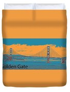 The Golden Gate Bridge In Sfo California Travel Poster 2 Duvet Cover