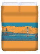 The Golden Gate Bridge In Sfo California Travel Poster Duvet Cover
