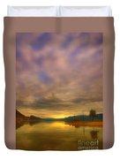 The Golden Glow Of Morning Duvet Cover