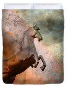 The Golden Horse Duvet Cover