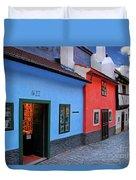 The Golden Lane Duvet Cover by Mariola Bitner