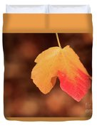 The Golden Leaf Of Fall Duvet Cover by Tracy Hall