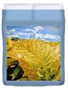 The Golden Leaf Duvet Cover