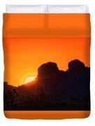 The Golden Light Of The Sonoran Desert  Duvet Cover