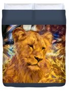 The Golden Lioness  Duvet Cover