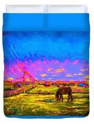 The Golden Meadow Duvet Cover