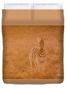 The Golden Zebra Duvet Cover