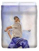The Golfer Duvet Cover