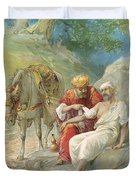 The Good Samaritan Duvet Cover by Ambrose Dudley