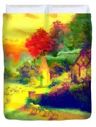 The Good Shepherd Painting In Hotty Totty  Duvet Cover