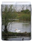 The Goose And The Pelican Duvet Cover