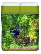 The Gorge In The Wood Duvet Cover