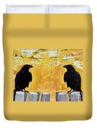 The Gossips Duvet Cover by Pat Saunders-White