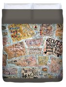 The Graceland Graffiti Wall Duvet Cover