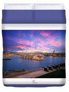The Gran Harbour Duvet Cover
