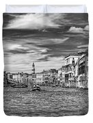The Grand Canal Bw Duvet Cover